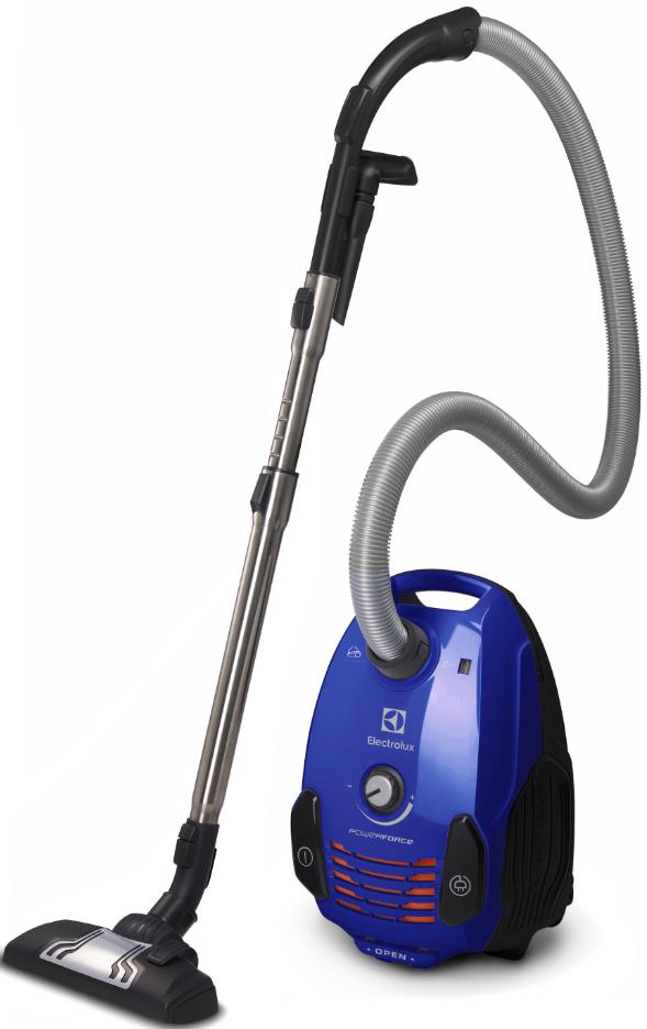 Electrolux EPF62IS blå dammsugare med DustPro och effektiv motor